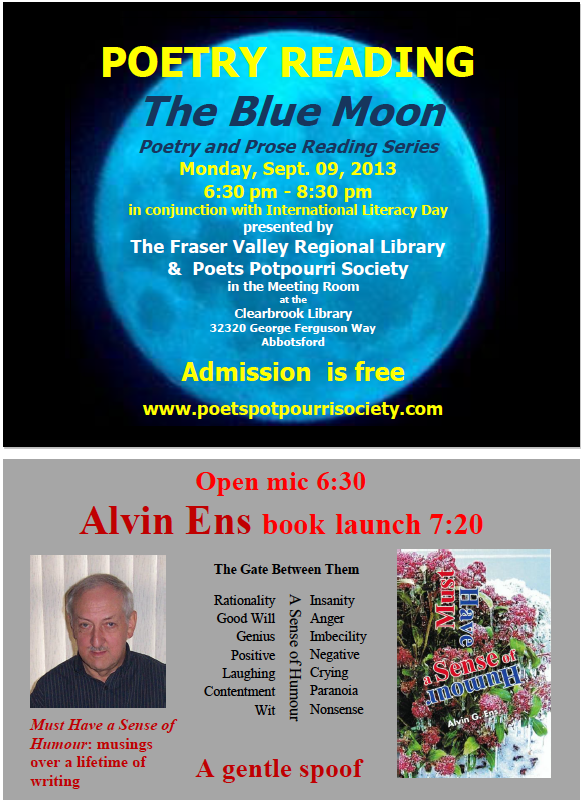 PPS Blue Moon Reading poster - Sept. 9, 2013