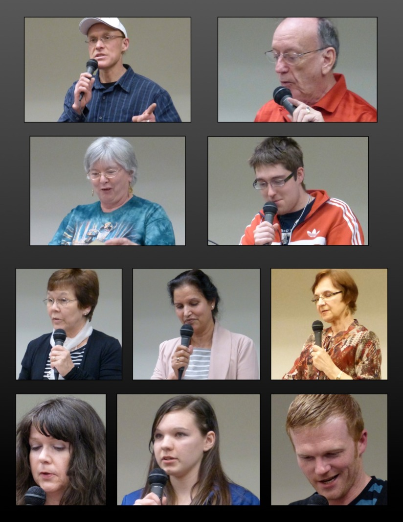 Fraser Valley Poets Society  open mic readers April 7, 2014