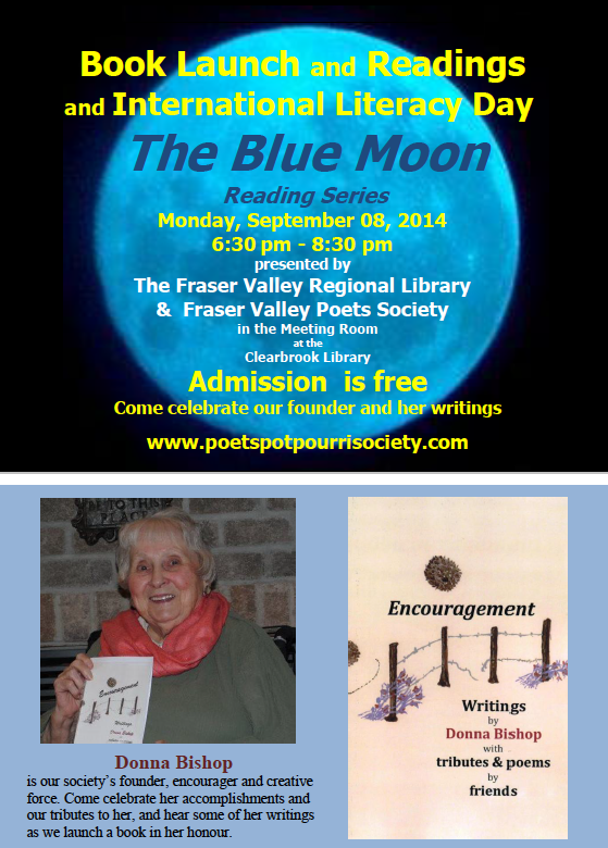 September 8, 2014 Blue Moon Reading Poster
