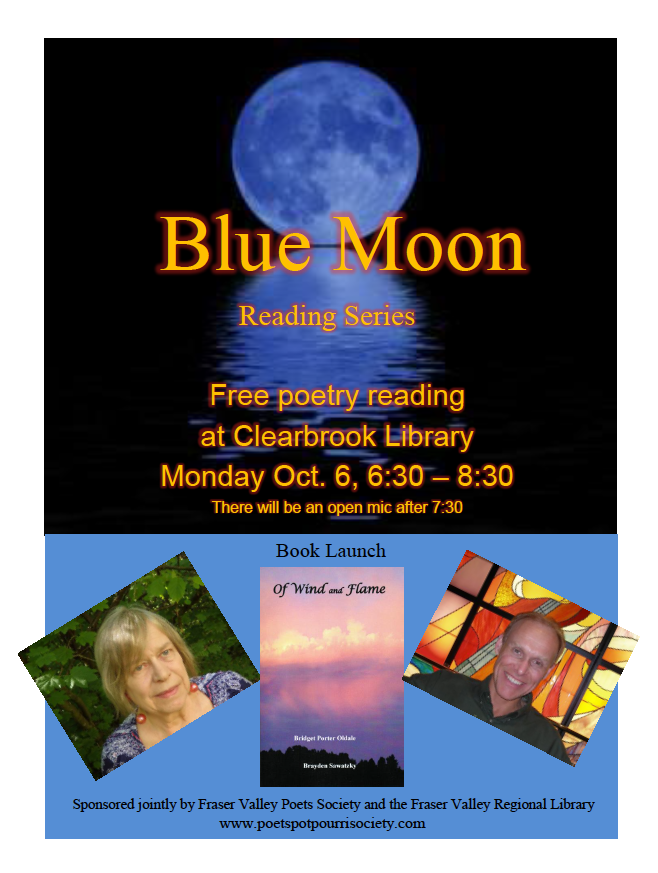 FVPS Blue Moon Reading poster for October 6, 2014