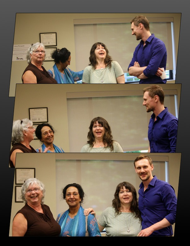 A good time at the June 15 Blue Moon Reading (Photos by T. W. Goodrich)
