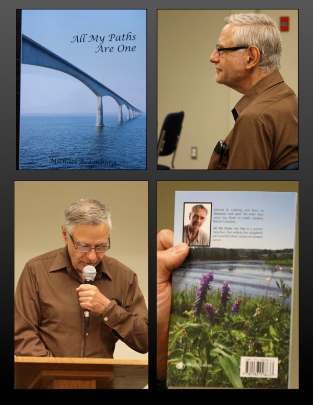 Michael Linburg reads from his new book All My Paths Are One. (Photos by T. W. Goodrich)
