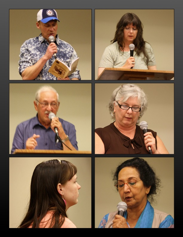 Some of the June 15th open mic readers (Photos by T. W. Goodrich)