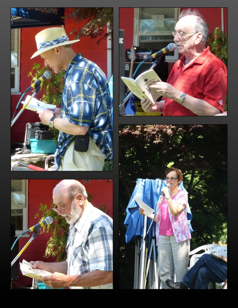 Poetry reading in Mill Lake Park