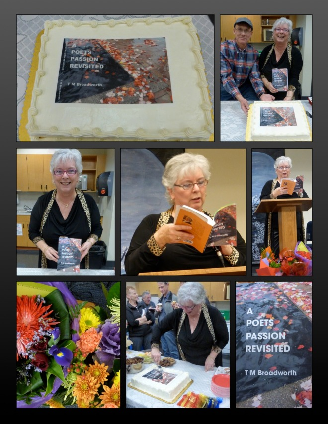 Terry Broadworth launches A Poets Passion Revisited - Congratulations, Terry!